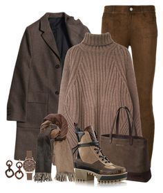 """Oversized Sweater"" by terry-tlc ❤ liked on Polyvore featuring Paige Denim, SOREL, Olivia Burton, NEST Jewelry and MaxMara"
