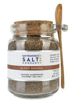 8 Oz Chef's Jar - Alderwood Smoked Sea Salt - http://spicegrinder.biz/8-oz-chefs-jar-alderwood-smoked-sea-salt/