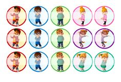 """Alvin and the Chipmunks - 1"""" Bottle Cap Designs / DIY Hair Accessories / DIY Earrings / DIY Necklace / DIY Key Chain / Birthday Party / Party Favors / DIY Magnets / Bottle Cap Crafts / Bottle Cap Art / Bottle Cap Ideas / Bottle Cap Party Favors / Children Party Ideas / Children Party Themes / Kid Party Ideas / DIY Party Ideas"""