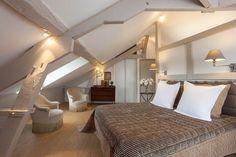 Une chambre chic et naturelle sous un toit normand - Normandie : une déco pleine de charme - CôtéMaison.fr