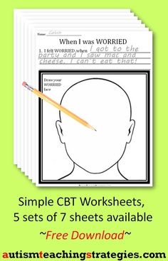 Printables Anxiety Worksheet cbt childrens emotion worksheet series 7 worksheets for dealing this is page 1 in a set on with anxiety it