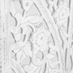 Featuring intricate floral medallion motif inspired by gardens in Bangalore, our Zaria screen is hand carved by artisans in India. Movable Walls, Wood Bird, Bird Boxes, Affordable Home Decor, May Flowers, Handmade Wooden, Hand Carved, Carved Wood, Carving