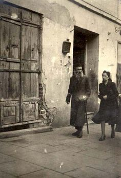An Elderly Man and a Woman in a Ghetto Street, Lublin, Poland, 10.03.1941