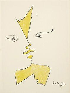 "primary-yellow: "" JEAN COCTEAU LE BAISER, 1955 """