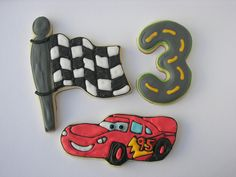 lightning mcqueen cookies - Google Search
