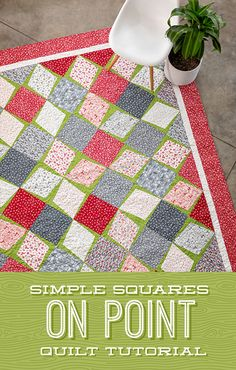 Jenny is on point in this week's tutorial! The Simple Squares method of setting quilt blocks on point is so quick and painless, you'll be turning blocks like a pro in no time! Follow the link below to watch the Simple Squares on Point tutorial now! #MissouriStarQuiltCo #MSQC #JennyDoan #SimpleSquaresOnPointQuilt #OnPointQuilt #Quilting #Sewing #HowToQuilt #QuiltTutorial #DIYHomeDecor #QuiltPattern #QuiltBlocks #FabricCrafts Easy Quilts, Mini Quilts, Quilting Tutorials, Quilting Projects, Missouri Star Quilt, Pin Cushions, Pillows, Quilt Blocks, Fabric Crafts