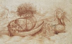 Leonardo da Vinci (Vinci 1452-Amboise 1519)  A political allegory  c.1495 Red chalk | 17.0 x 28.0 cm (sheet of paper)