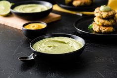 Creamy Tofu, Mustard & Avocado Dip - Spread the Mustard Rub Recipes, Salad Recipes, Mustard Recipe, Avocado Dip, Mustard Greens, Vegetable Dishes, Plant Based Recipes, Tofu, Sprouts