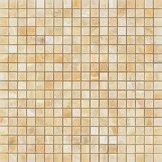 5/8 x 5/8 Polished Honey Onyx Mosaic Tile