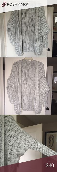 Brandy Melville knit cardigan Brandy Melville knit cardigan, only worn once, super cute and in perfect condition. So soft with a hoodie and big sleeves. Really cute with a crop top and jeans!! I can post pictures of it on if needed! Brandy Melville Sweaters Cardigans