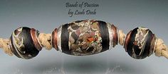 BHB Glass Beads of Passion Leah Deeb  3pc Rich by BeadsofPassion