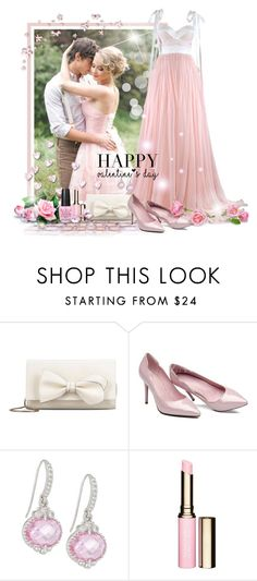 """Pink Valentine"" by tracireuer ❤ liked on Polyvore featuring Maria Lucia Hohan, RED Valentino, Judith Ripka, Clarins, OPI, women's clothing, women, female, woman and misses"