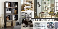 open shelving possibility involves segmented sections in glossy white. Designed by Mark Daniel