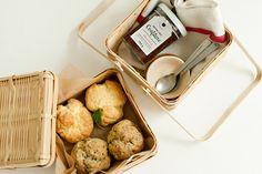 Breakfast in a basket.