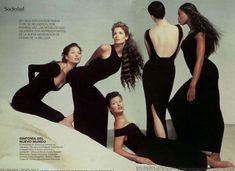 fuckyeahqueencampbell:    old Versace add, with Kristen, Stephanie, Linda & Christy