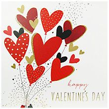 Buy Portfolio Love Balloons Valentine's Day Card Online at johnlewis.com