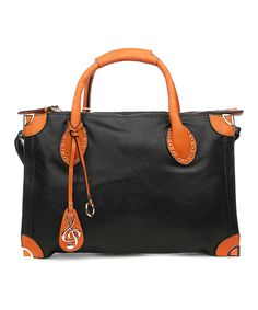 Amore Black & Brown Irma Tote by Amore #zulily #zulilyfinds