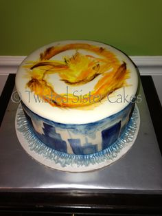 Divergent cover cake its chocolate Pretty Cakes, Cute Cakes, Yummy Cakes, Divergent Cake, Divergent Party, Divergent Series, Fondant, Caking It Up, Dream Cake