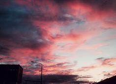 Cotton candy clouds Sky on fire Thessaloniki, Greece