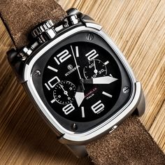 The Scrambler Collection brings together the natural elegance and classicism of a square case design with the rugged influence of… Sport Watches, Cool Watches, Best Looking Watches, Silver Pocket Watch, Expensive Watches, Seiko Watches, Luxury Watches For Men, Beautiful Watches, Automatic Watch