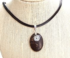 Natural Gemstone Brown Jasper Oval Pendant Necklace Protection Healing USA #Handmade #OvalPendantSize35mmx25mmCord16inches