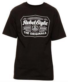 REBEL8 HOPS T-SHIRT BLACK