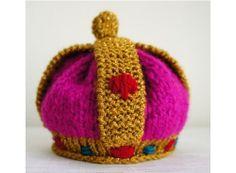 世界一優しい王冠を、ベビー女王誕生なニット帽
