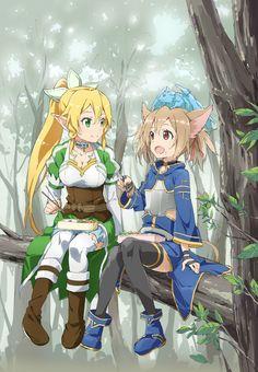Leafa & Silica| Sword Art Online