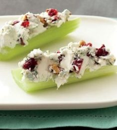 Blue Cheese-and-Pecan-Stuffed Celery..i would use goat cheese instead.