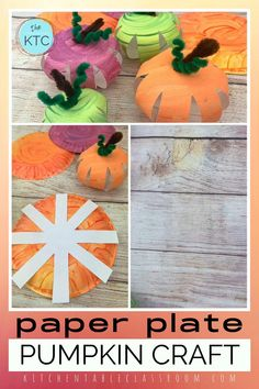 Use my free printable templates to make this paper plate pumpkin craft while exploring secondary colors! #pumpkincraft #fallcraft Diy Thanksgiving Crafts, Halloween Crafts For Kids, Pumpkin Crafts, Halloween Diy, Paper Plate Crafts For Kids, Craft Projects For Kids, Easy Crafts For Kids, Crafts To Do, Fall Arts And Crafts