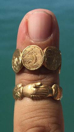 Ancient rings recovered from a shipwreck