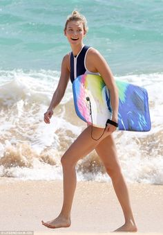 Karlie Kloss wearing Duskii Monte Carlo Paneled Neoprene Swimsuit
