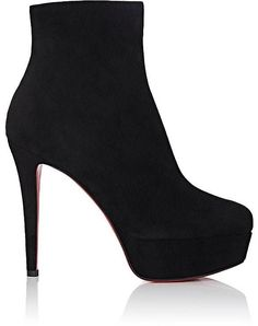 135854e1ab7c Christian Louboutin Women s Bianca Suede Platform Ankle Booties