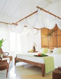 Bright Tropical Bedroom Designs   really want to make one room like this