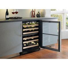Chateau 44-Bottle Dual Zone Wine Refrigerator Door Frame: Overlay, Hinge Location: Left  #Marvel #Major_Appliances
