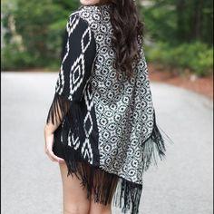 Outerwear - Tribal print kimono on Poshmark