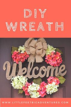 Create Your Own DIY Wreath This DIY wreath was easy and simple to put together. I hope it inspires you to create your own DIY wreath. These would make wonderful gifts! Diy Home Crafts, Crafts To Sell, Easy Crafts, Easy Diy, Simple Diy, Dyi, Wreath Crafts, Diy Wreath, Wreath Ideas