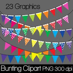 FREE Bunting/Banners Clip Art at Cat Lady Graphics