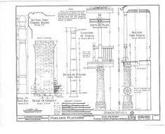HABS (sheet 6 of - Parlange Plantation, State Highway New Roads, Pointe Coupee Parish, LA Creole Cottage, Southern Plantations, Palmetto Bluff, Roads, Floor Plans, 18th, Road Routes, Street, Floor Plan Drawing