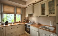 Kuchnia klasyczna jasna - Harmony Studio