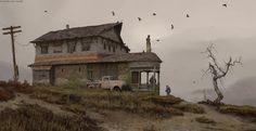 Edward's house, Maxim Verehin on ArtStation at https://www.artstation.com/artwork/edward-s-house