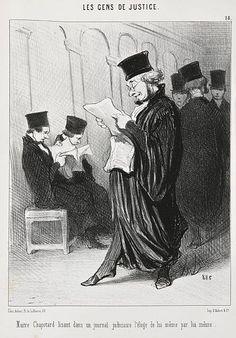 Honoré Daumier Marseille, 1808 - Valmondois, 1879 Les Gens de justice Suite de 25 planches, vers 1845-1850