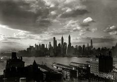 """March 15, 1933. """"New York city views. Financial district from Hotel Bossert."""" Large-format acetate negative by Samuel H. Gottscho."""