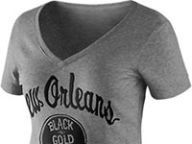 Mens New Orleans Saints Black Vital Win Crew Neck Sweatshirt