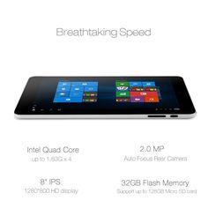 iRULU 8 pulgadas 32GB Quad Core Tableta PC con sistema operativo Microsoft Windows 10: Amazon.es: Electrónica