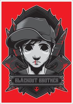 Charlie the Blackout Brother by Charles AP, via Behance