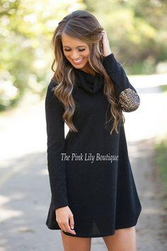 Come To Me Tunic Sweater Black