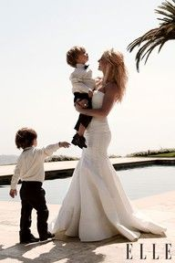 :)))) We will renew our vows on our 5 year anniversary in Hawaii with all our kids!!