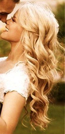 Bride's gorgeous long down bonde curls bridal hair Toni Kami Wedding Hairstyles ♥ ❷ Wedding hairstyle ideas. Love it!