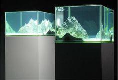 Mariela Neudecker, Heaven the sky, two part tank work, mixed media incl. water, resin, salt, mercury lamps, 2008